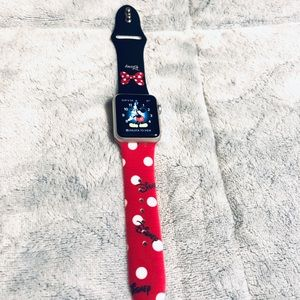 42mm Minnie Mouse Apple Watch Silicone Band (M/L)